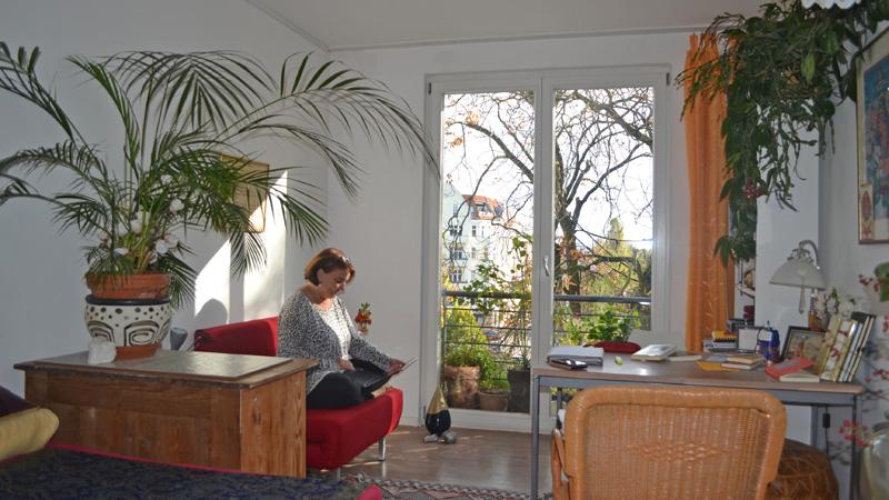 Zimmer einer Bewohnerin im Dharma Mati