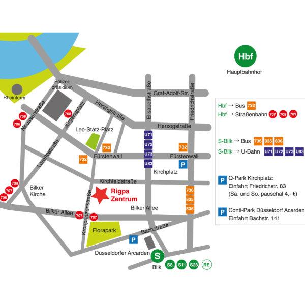 Karte Rigpa Zentrum Düsseldorf