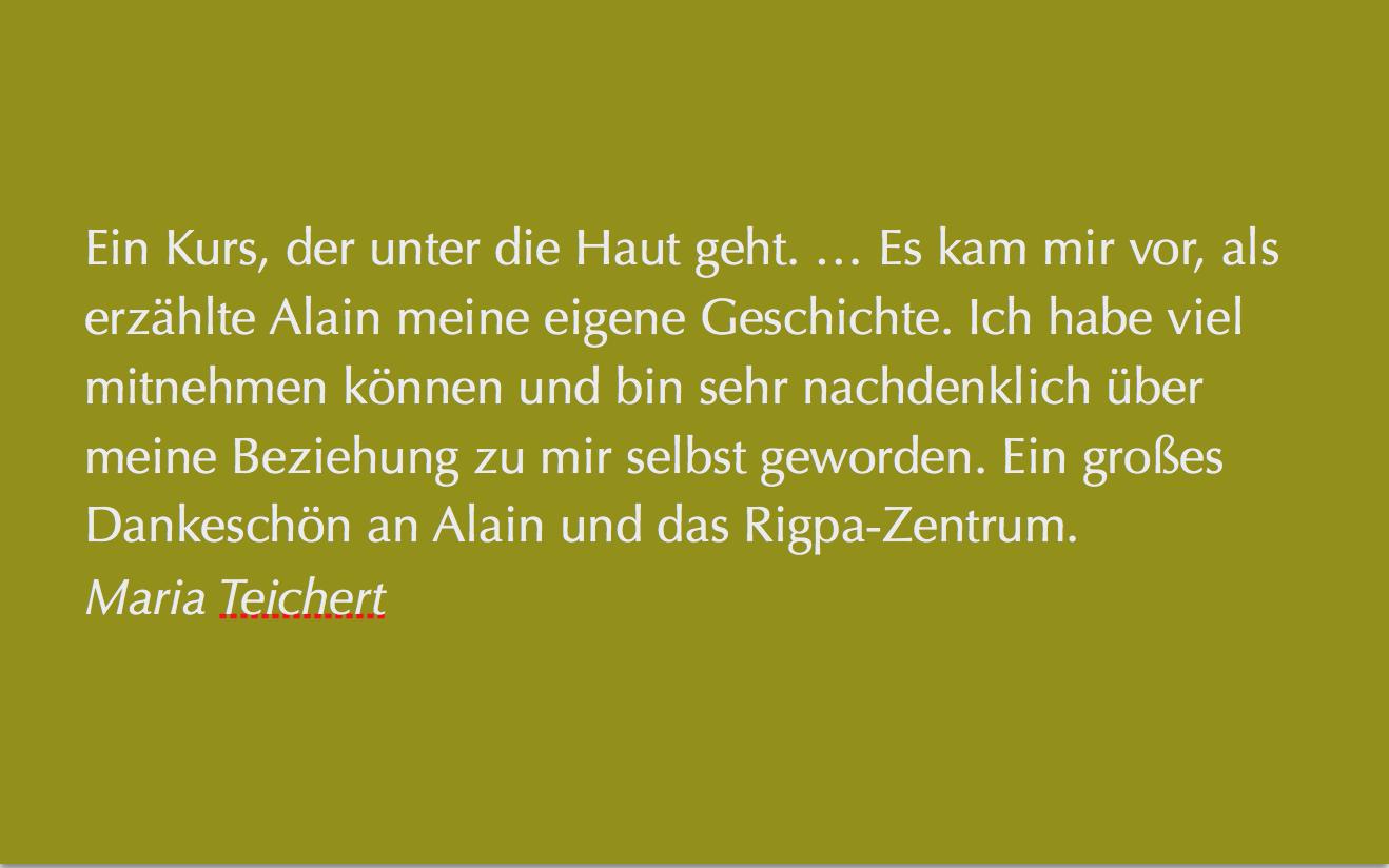 Alain Beauregard, Seminar in Berlin 2018, Stimme von Teilnehmenden