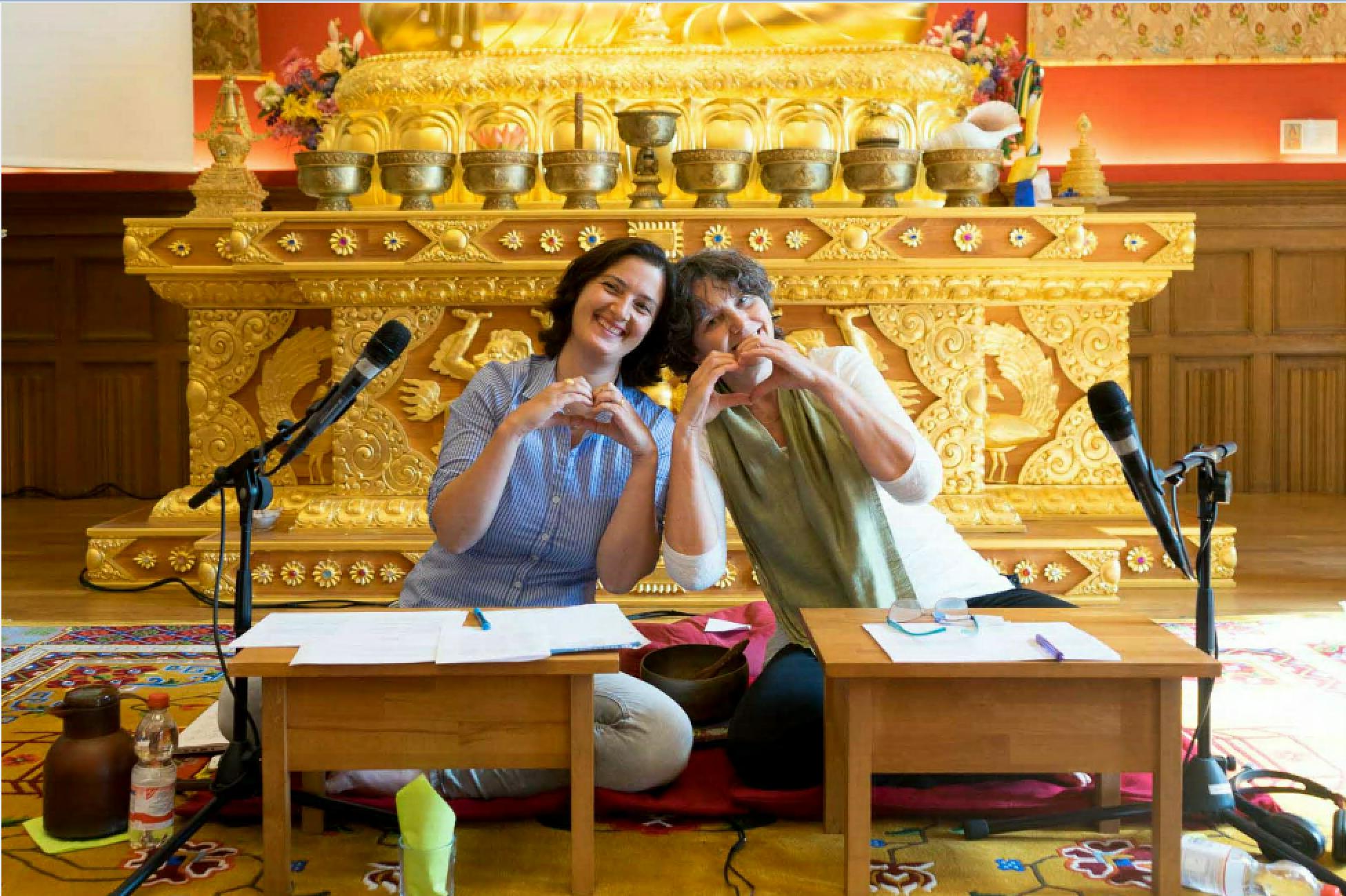 Verena und Karin, Sieben Punkte des Geistestraining, Dharma Mati Berlin (Mai 2018)
