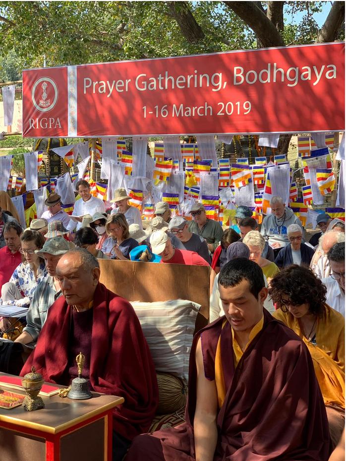 Rigpa Gebetsfest, März 2019, Bodhgaya Indien