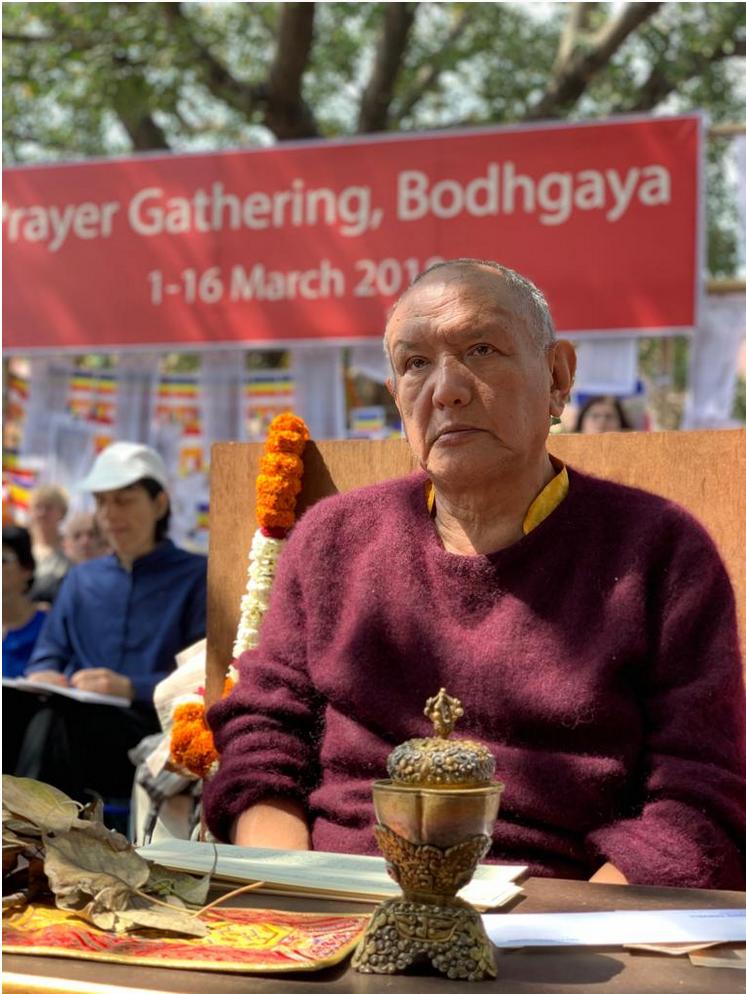 Orgyen Tobgyal Rinpoche, Rigpa Gebetsfest, März 2019, Bodhgaya (Indien)