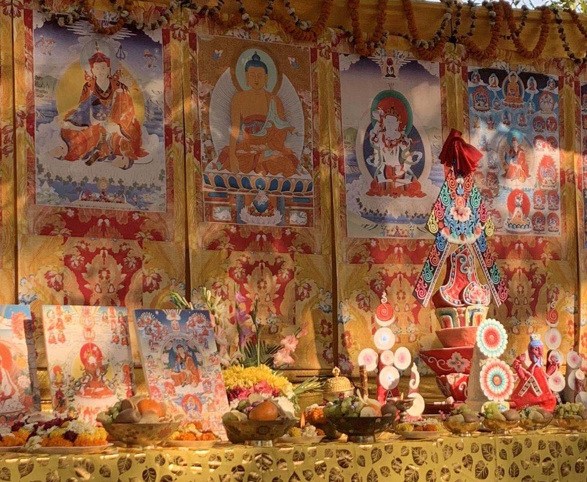 Schrein. Rigpa Gebetsfest, März 2019, Bodhgaya (Indien)