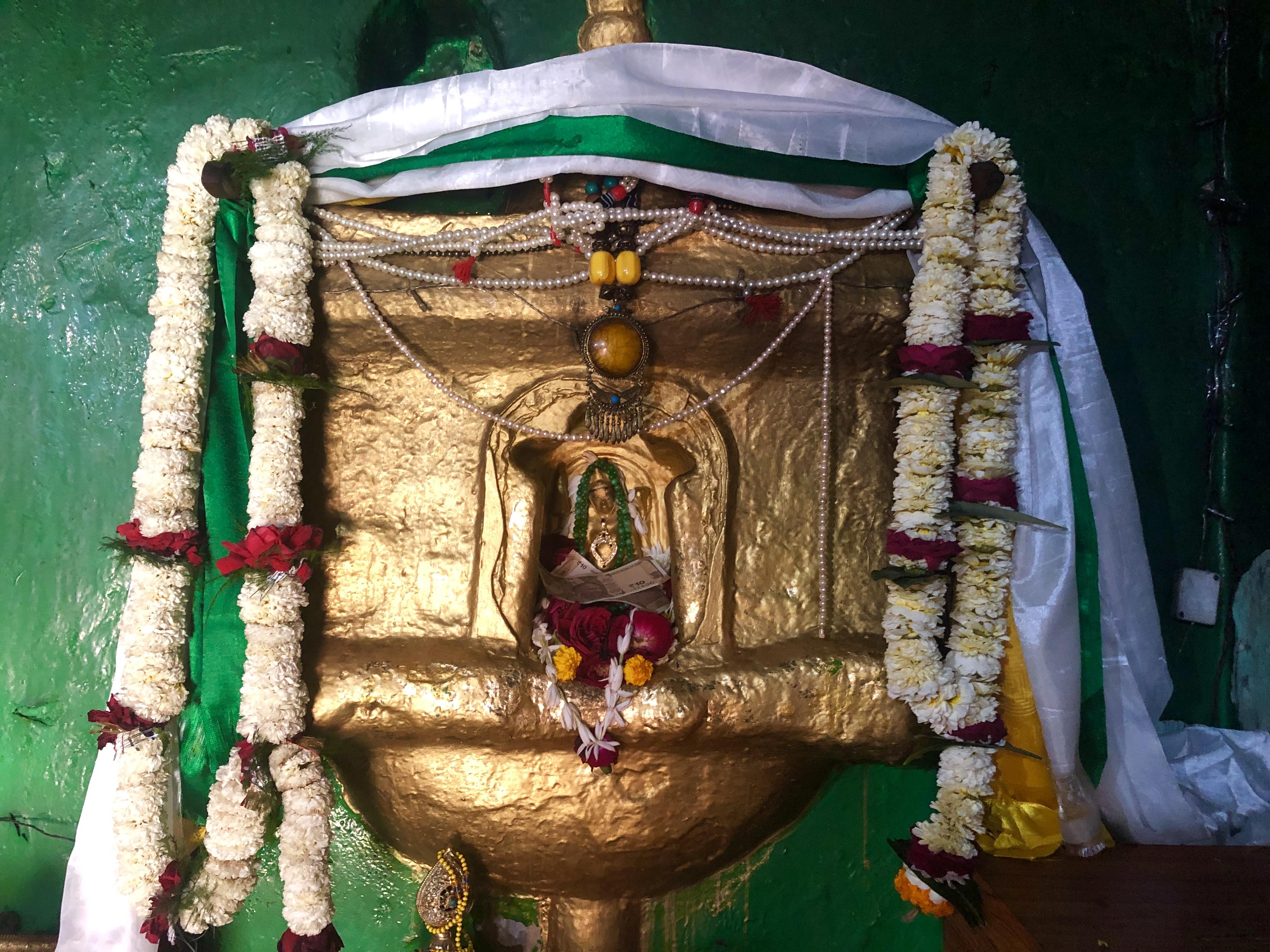 Tara Schrein. Es wird gesagt, das diese Tare mit Atisha gesprochen hat. Rigpa Gebetsfest, März 2019, Bodhgaya (Indien)